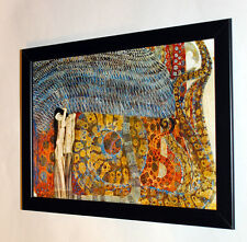 Gustav Klimt Beethoven frieze part 2 framed, giclee CANVAS PRINT poster