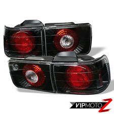 *AMAZINDEALS* 92-93 Honda Accord 4DR JDM Black Tail Lights Rear Brake Pair