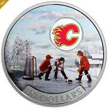 2017 Canadian Passion to Play: Calgary Flames®  1/2 oz Silver Colored Coin