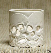 Ceramic Bisque Skull Incense or Candle Nowell Mold 3016 U-Paint Ready To Paint