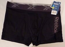 Men's New  Underwear Reebok Trunks Black Size M