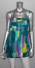LANE BRYANT NEW Fun & Flirty Green/Yellow Print Spaghetti Strap Shirt sz 18/20W