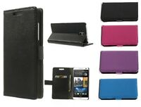 PREMIUM PU LEATHER WALLET BOOK CASE COVER FOR HTC DESIRE 610