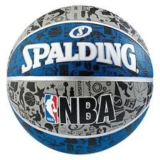 Spalding GRAFFITI BLUE Basketball Size 7 Adult Basket Ball Official NBA /Weight
