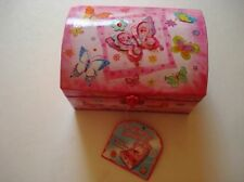 Dome Shape Butterfly Musical Jewelry Box
