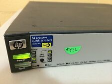 HP Procurve J8164A 2626-PWR 24-port Managed Switch 10/100Mbps POE