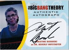 THE BIG BANG THEORY SEASONS  6 & 7 CB2 CHRISTINE BARANSKI DR. BEVERLY AUTOGRAPH