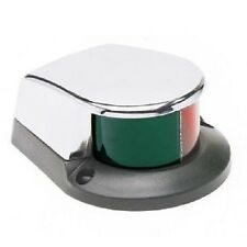 LARGE  boating bow light red green chrome boat naviagtion marine BI-color 52094