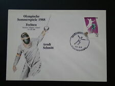 olympic games Seoul 1988 fencing FDC Korea 66958