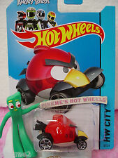 Case D/G 2014 i Team Hot Wheels ANGRY BIRDS RED #82∞Red Bird∞CAW!!!∞Tooned I
