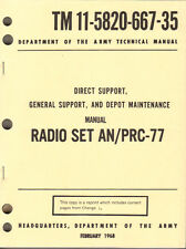 Radio Set AN/PRC-77, Maintenance Manual
