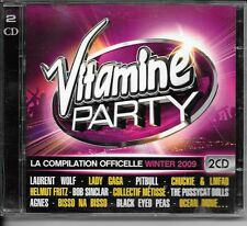 2 CD COMPIL 40 TITRES--VITAMINE PARTY--WOLF/LADY GAGA/PITBULL/SINCLAR/BLACK EYED