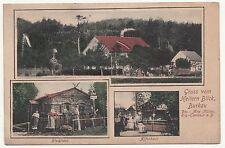 Kolo. Litho Ak Gruss v. heiteren Blick Blockhaus Affenhaus Burkau 1906 ! (A1406
