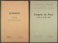 SCIENCES - REVUE POUR L'AVANCEMENT DES SCIENCES - 1937 N°10 - INSECTE CHAMPIGNON