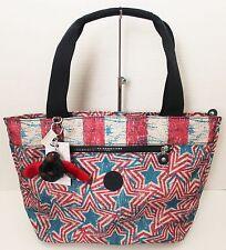 Kipling Tote Shoulder Bag Jerimiah American Fourth of July Flag _Red