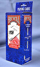 BICYCLE PLAYING CARDS Poker 12 Pack - Standard 6 BLUE & 6 RED Decks 808 Games