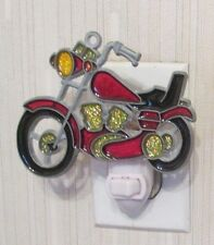 RED MOTORCYCLE NIGHTLIGHT (SUNCATCHER LIGHT)