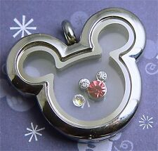Mickey Mouse Memory Floating Locket Set Charm & Origami Owl stardust Easter SIL