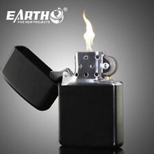 EARTH Black color (BLACK COLOR) attractive Cigarette Lighter with Liquid Fuel