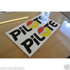 PILOTE 'Golden Sunset' - (PRINTED) - Name Sticker Decal Graphic - SINGLE