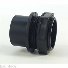 "1.5"" (45mm) THREADED TANK CONNECTOR WITH RUBBER SEAL (koi,pond,quarantine,vat)"