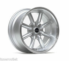 "ULTRALITE TB 15"" x 8J ET0 4x100 DEEP DISH SILVER MACHINED LIP ALLOY WHEELS Y3134"