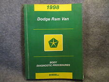 1998 Dodge Ram Van Body Diagnostic Procedures Manual 81-699-97124 Guide Y454
