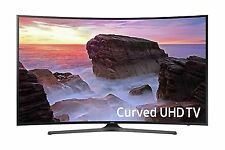 """Samsung 55"""" Curved Smart 4K UHD LED TV with 3 HDMI, 2 USB Ports & Built-in WiFi"""