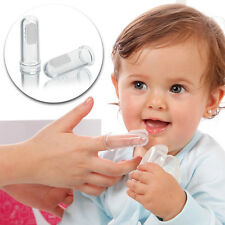 2pcs Baby Kids Soft Silicone Finger Toothbrush Gum Brush Wash Clean Teeth Rubber