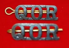 Queen's Own Rifles (QOR) CANADA Shoulder Title Badges