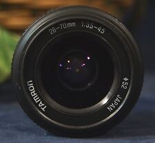 Very Nice TAMRON 28-70MM 1:3.5-4.5 Macro Zoom Lens Minolta M/MD Mount