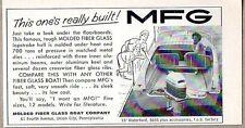 1960 Print Ad MFG Molded Fiberglass Boats Mercury Outboard Motor