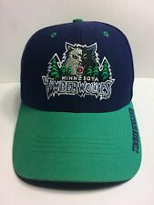 NBA Minnesota Timberwolves Cap Hat Adult OSFA Velcro Back Wool Acrylic Twins