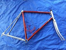 VITUS DURAL 979 FRAME + FORK RED ANODIZED ALLOY ROAD BIKE ALAN 700 55 56 58 cm