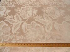 Authentic 60s 70s VINTAGE Fabric Shabby Brocade Jacquard Chic Tone on Tone Cream