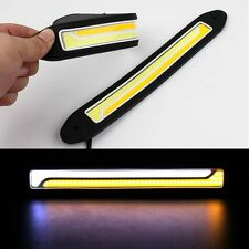 Flexible COB 12V LED Daytime Running Lamp DRL Offroad Driving Light Super White