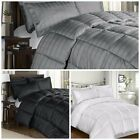 300 Thread Count Cotton Plaid Goose Down Alternative Comforter Set
