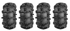 (2) 27x9-12 & (2) 27x11-12 New Interco Black Mamba Lite 6-Ply ATV Mud Tire Set