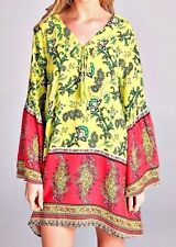 85% OFF NEW PLUS 1X FREE SPIRITED BOHO GYPSY VERSATILE TUNIC TAG $126 Made in US