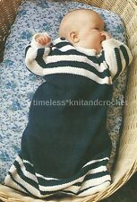 VINTAGE KNITTING PATTERN FOR BABY'S / BABIES COSY SLEEPING BAG - DK