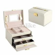 PU Leather Jewelry Box Ring Bracelet Watch Storage Case Gift Organizer Holder