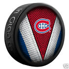 "MONTREAL CANADIENS ""Stitch"" Series Team Logo Model SOUVENIR PUCK NEW In Glas Co"