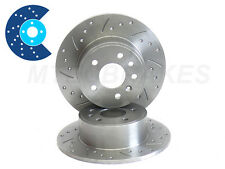 HONDA CIVIC CRX VTI Drilled Grooved Brake Discs REAR
