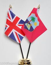 United Kingdom & West Indies Cricket Team Double Friendship Table Flag Set