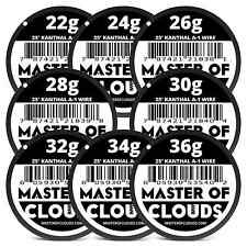 Master of clouds nichrome 80 100 ft 26 gauge awg resistance wire x 25 ft 36 gauge awg a1 kanthal round wire 0127 mm a 1 keyboard keysfo Images