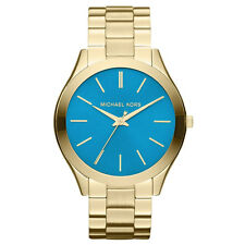 Michael Kors MK3265 Women's Runway Blue Dial Gold Steel Watch