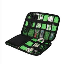 Travel Portable Drive Storage Organizer Bag Case Memory Card USB Cable Earphone