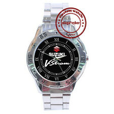 NEW Suzuki V-Strom Motorcycle Bike CUSTOM CHROME MEN WRIST WATCH WATCHES
