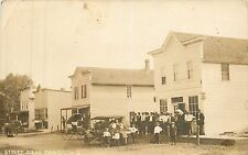 Wisconsin, WI, Dodge, Street Scene Beer Tavern 1921 Real Photo Postcard