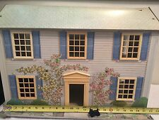 Vtg Antique Today's Kids Metal Tin Rosewood Manor Dollhouse & Plastic Furniture
